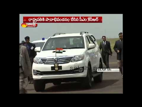 President Pranab Mukherjee arrives in Hyderabad