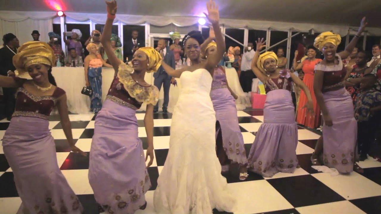 Best nigerian wedding video dance okeychinelo youtube for Best wedding dresses for dancing