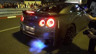 Nissan GT R with Straight Pipes   LOUD REVS AND FLAMES + TUNNEL!