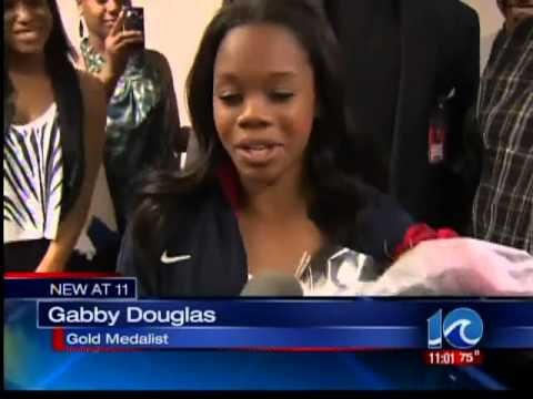 Gabby Douglas Comes home to Virginia