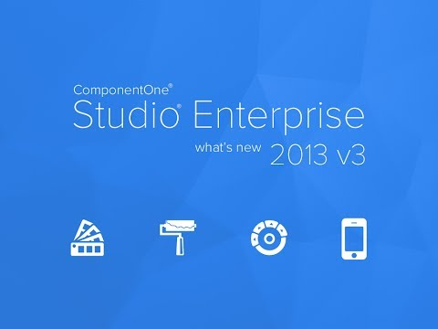 ComponentOne Studio Enterprise What's New 2013 v3