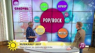 popprofessorn: Så var musikåret 2017 - Nyhetsmorgon (TV4)