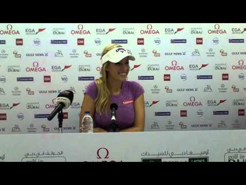 Paige Spiranac press conference ahead of the 2015 Omega Dubai Ladies Masters