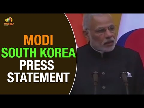 PM Modi speech at South Korea Joint Press Statement | South Korean President Park Geun Hye