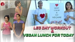 Leg Day Workout and My Vegan Lunch For Today   Ramya