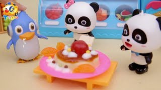 Baby Panda's Magic Pudding House | Cooking in Kitchen | Kids Toy Story | ToyBus