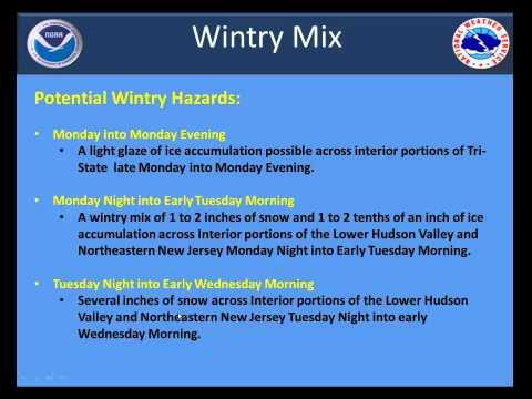 Weather Briefing on Coastal Storm Monday Dec 8 into Wednesday Dec 10 2014
