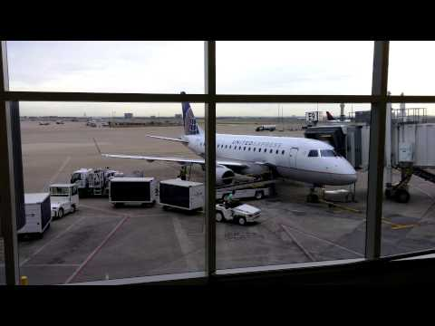 4K UHD United Airlines New E175 at Dallas Fort Worth International Airport