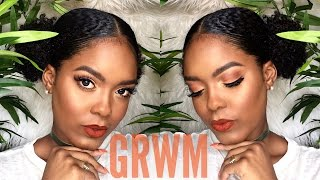 GRWM | Orange Summer Slay + Double Puff Hair Tutorial