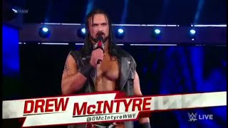 Drew McIntyre Entrance to confront Bobby Lashley - Raw: July 16. 2018