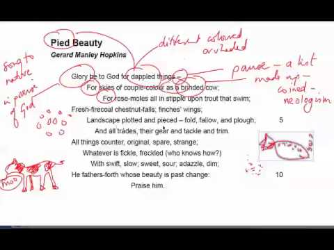 summary of the poem pied beauty
