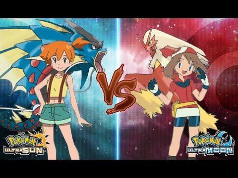 Pokemon Ultra Sun and Ultra Moon Misty Vs May (Kanto Vs Hoenn Battle)