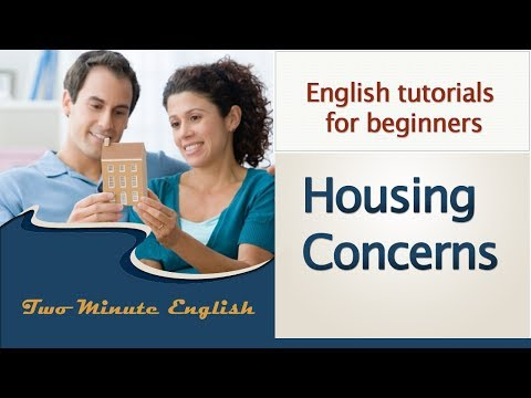 How To Learn English - Conversations About Housing - Free English Conversation Practice video