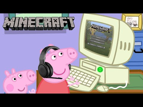 Play this video Peppa Pig Plays Minecraft