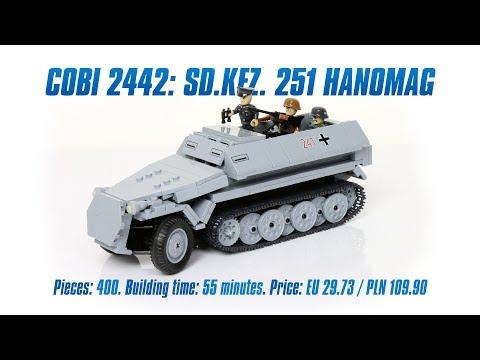 [COBI 2442] Sd.Kfz. 251 Hanomag review & speed build
