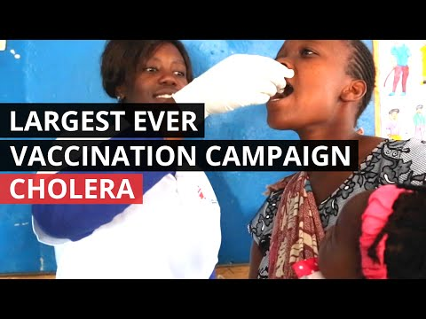CHOLERA | Largest Ever Oral Vaccination Campaign Underway in Zambia