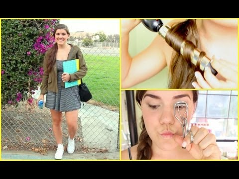 First Day of School Hair, Makeup, & Outfit!!