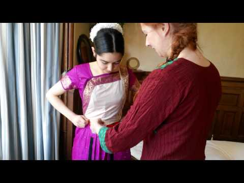 How To Wear Bharatanatyam Costume (video Tutorial) video