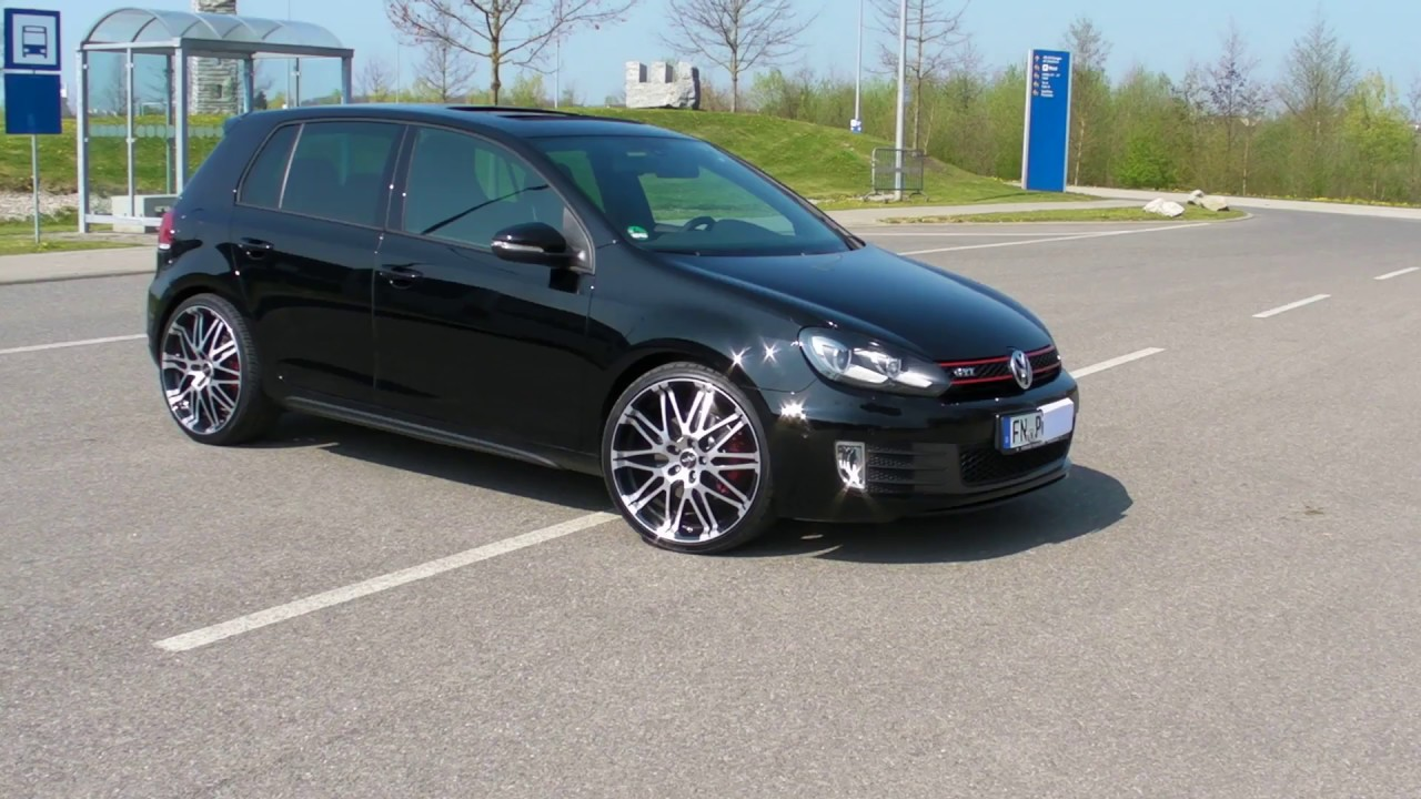 golf 6 vi gti schwarz black rundgang walk around youtube. Black Bedroom Furniture Sets. Home Design Ideas