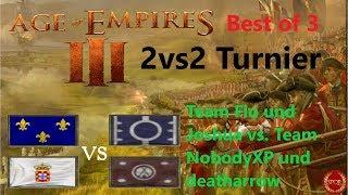 Age of Empires 3 // Team Flo vs. Team NobodyXP // Achtelfinale // 2vs2 Turnier [Deutsch/HD]