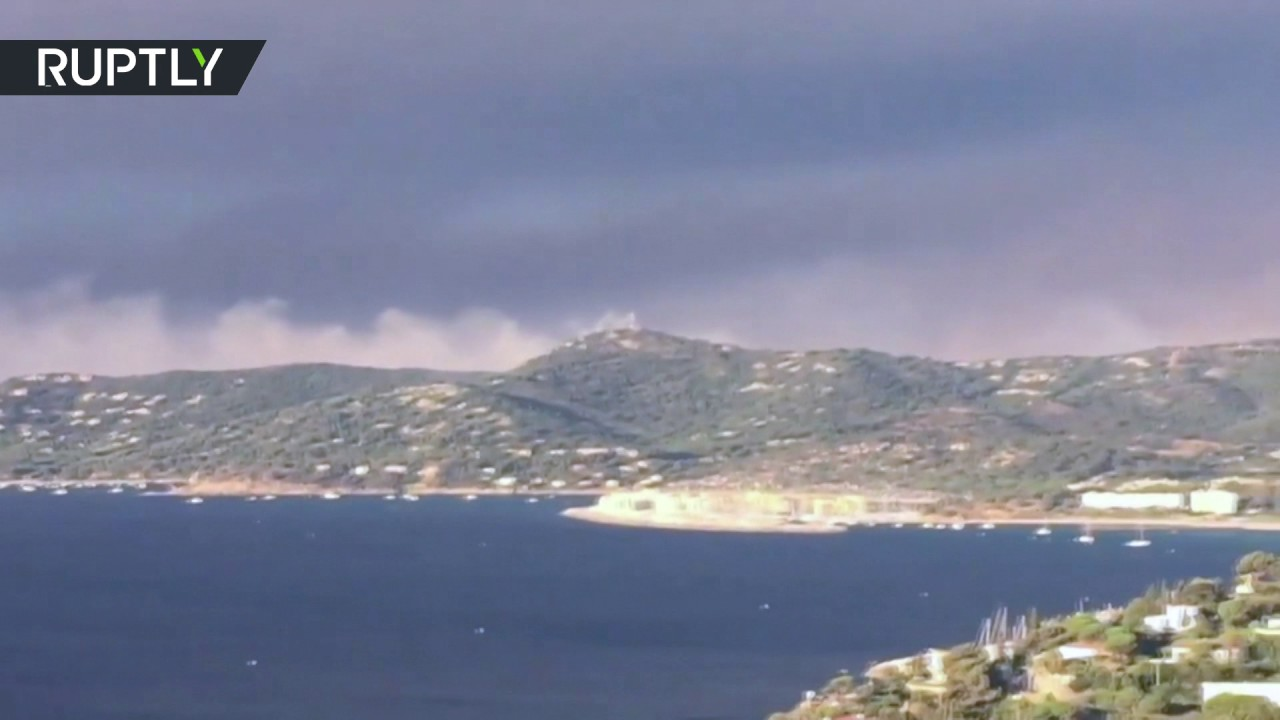 Sky full of smoke: Fire takes over France's southern coast, forcing thousands to evacuate