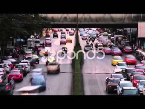 Traffic Time Lapse Stock Footage in Asia (Bangkok, Thailand) by StockFootageWorld