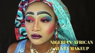 MOST BEAUTIFUL MAKEUP EVER. NIGERIAN/AFRICAN AUNTY MAKEUP WORST MAKEUP EVER 2017