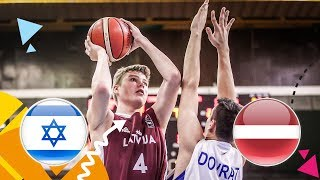 Israel v Latvia - Full Game - Round of 16 - FIBA U16 European Championship 2018