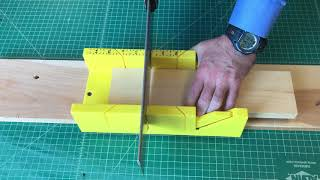 Using a Miter Box to Saw a Straight Line