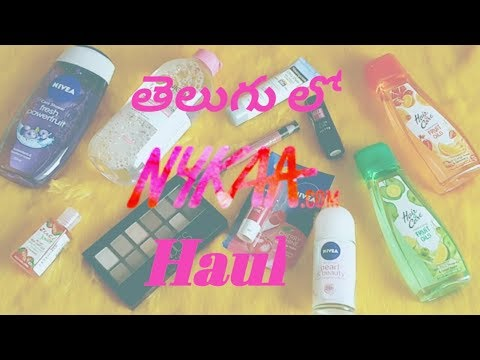 తెలుగు లో | Nykaa Haul | Nykaa 40% Sale | Makeup | Skincare | Hair Care