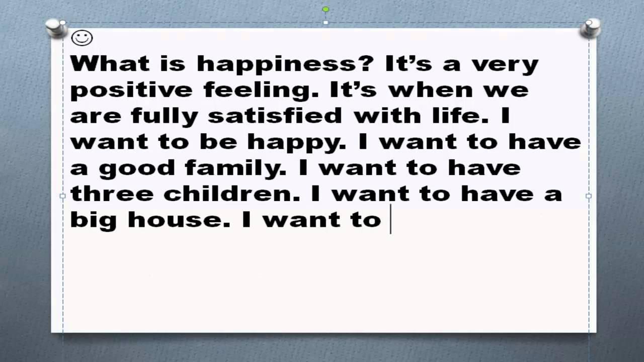 Рассказ на английском что делает меня счастливым