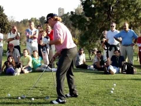 Miguel Angel Jiménez-Clinic en Aloha Golf-Open de Andalucia 2012-Parte I