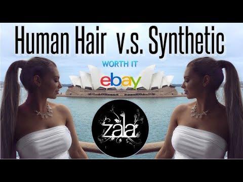 Human Hair Vs. Synthetic Hair Extensions | Ebay vs. Zala Ponytail | Worth it?