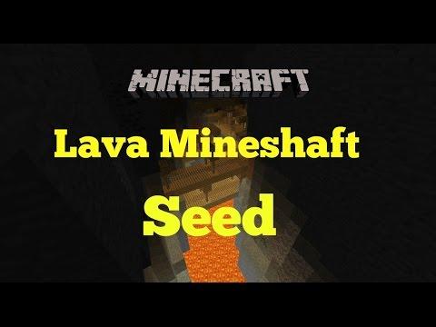 Cool Lava Abandoned Mineshaft, Dungeon Minecraft Seed 1.8.2