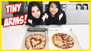 TINY HANDS CHALLENGE to make DIY Giant Pizza with Princess ToysReview