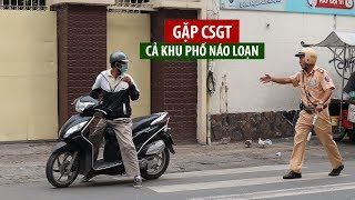 Khu phố Sài Gòn náo động, í ới gọi nhau tránh CSGT bắt xe ngược chiều