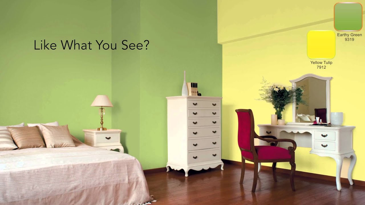 Color Combination For Bedroom Asian Paints : Decorate with Fresh Greens - YouTube