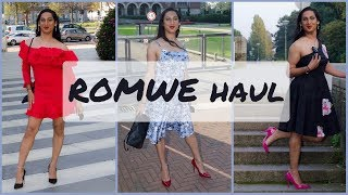 Crossdresser - another Romwe haul - 3 dresses - red, blue and black | NatCrys