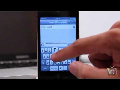 Como acessar os caracteres especiais de teclado do iPhone e iPod mais rapidamente
