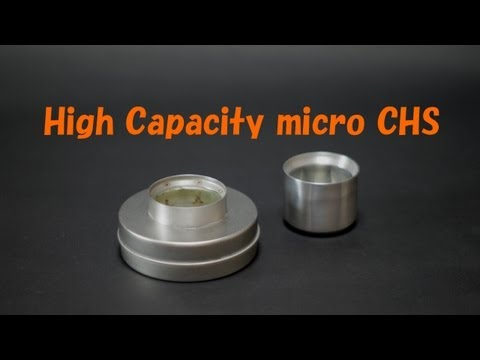 High Capacity microCHS Alcohol Stove