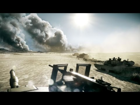 The Most Beautiful Tank Battle in Games on PC ! Abrams M1A2 and T-72 in Battlefield 3