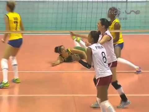 Campeonato Sudamericano de Voleibol Femenino Juvenil 2014 - Match #3: Brasil vs. Perú