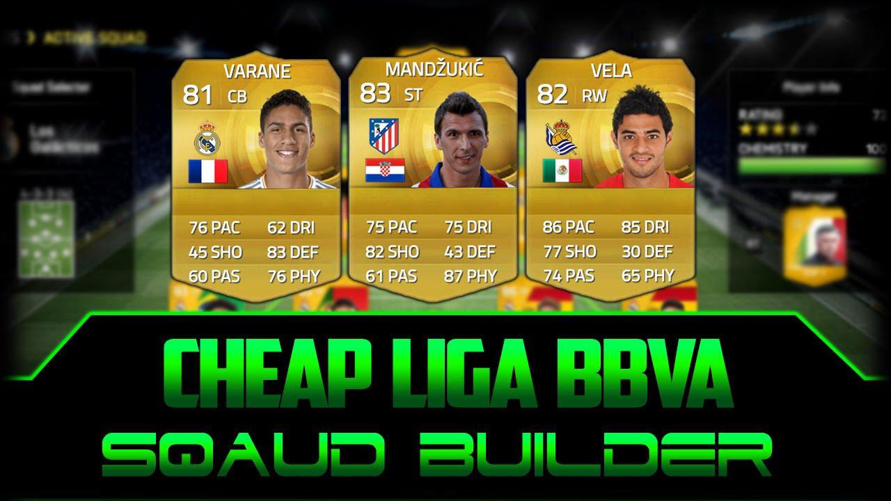 Fifa 15 ultimate team cheap liga bbva squad builder 20k coins la liga