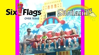 Six Flags Over Texas Family Fun WITH ROLLER COASTER & Activities for Kids