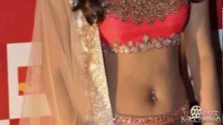 Priyanka Chopra in a NAVEL Showing Lehenga Choli at Mijwan Fashion Show