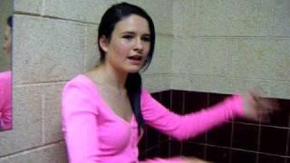 Niamh in the bathroom
