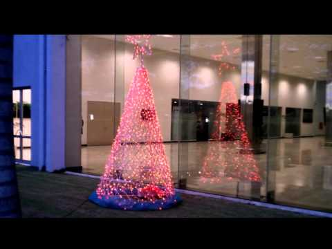 Amazing LED Christmas Decoration Christmas Tree design with PIC Microcontroller at Colombo AirPort
