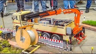 RC Truck with Crane lifts cable reel! BIG 1/8 scale!