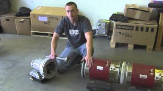 Dual Motor Electric Vehicle Drivetrain With Powerglide 2 Speed Transmission Walkthrough by EV West