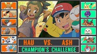 Ash vs. Hau (Pokémon Ultra Sun/Moon) - Champion's Challenge